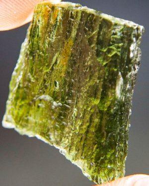Glossy Unique Shape Moldavite (4.26grams) 2
