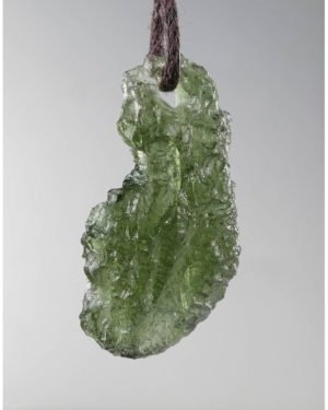 Jewelry Shape Drilled Moldavite Necklace (2.6grams) 1