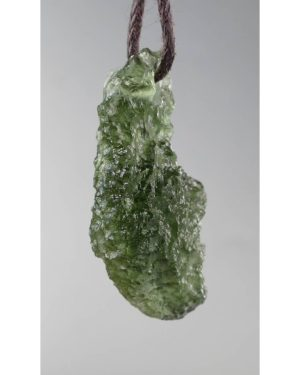 Jewelry Shape Drilled Moldavite Necklace (2.6grams) 2