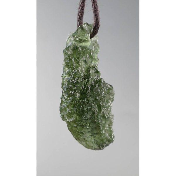 Jewelry Shape Drilled Moldavite Necklace (2.6grams) 2