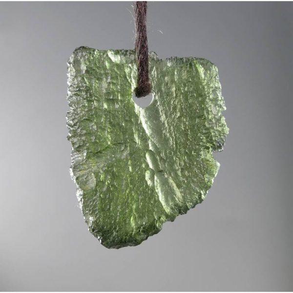 Jewelry Shape Drilled Moldavite Necklace (2.8grams) 1
