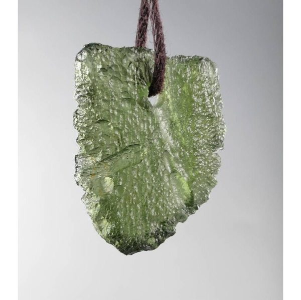 Jewelry Shape Drilled Moldavite Necklace (2.8grams) 3