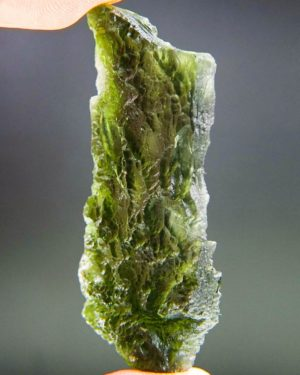 Large Angel Chime Moldavite From Chlum With Certificate Of Authenticity (14.02grams) 2