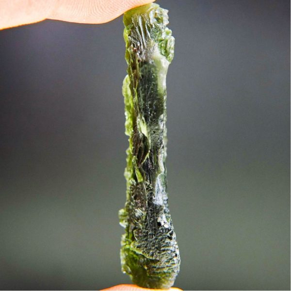 Large Angel Chime Moldavite From Chlum With Certificate Of Authenticity (14.02grams) 3