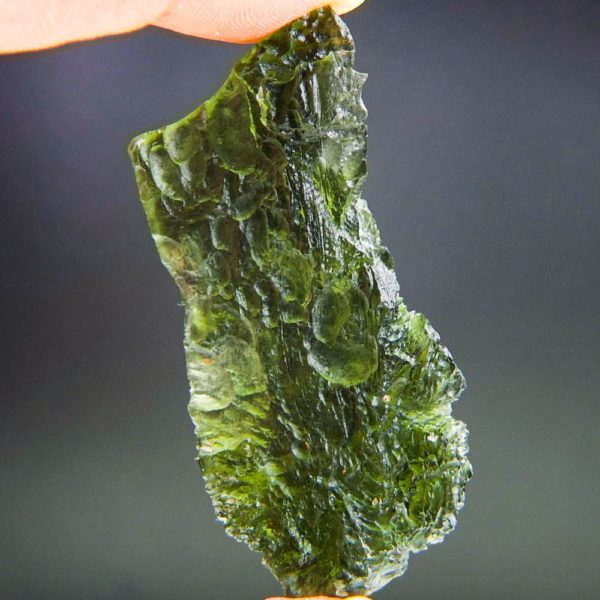Large Angel Chime Moldavite From Chlum With Certificate Of Authenticity (14.02grams) 4
