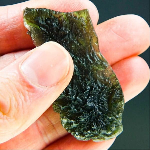 Large Angel Chime Moldavite From Chlum With Certificate Of Authenticity (14.02grams) 5
