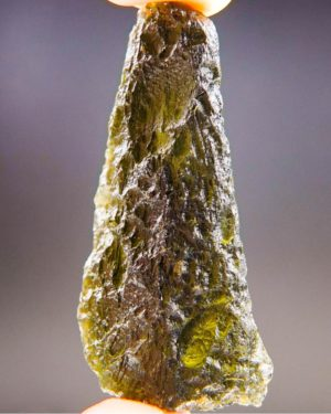 Large Brown Green Moldavite Found On Surface With Certificate Of Authenticity (12.35grams) 2