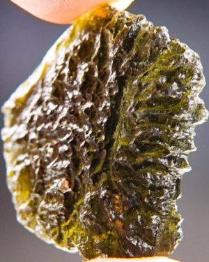 Large Brown Green Moldavite From Clum With Certificate Of Authenticity (9.13grams) 2