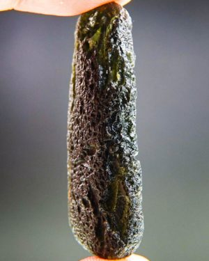 Large Dark Moldavite With Certificate Of Authenticity (14.08grams) 2