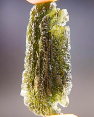 Large Moldavite From Chlum With Certificate Of Authenticity (12.79grams) 2