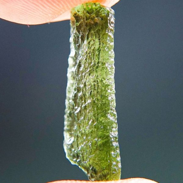 Light Green Drop Shape Moldavite From Chlum (0.96grams) 2