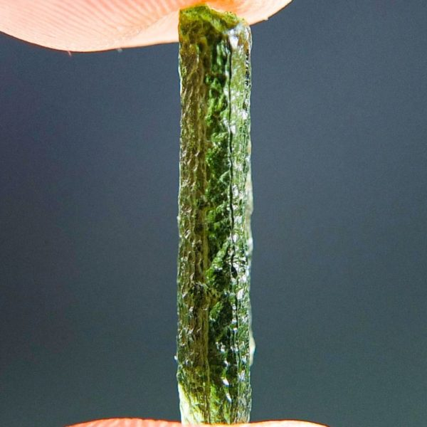 Light Green Drop Shape Moldavite From Chlum (0.96grams) 3