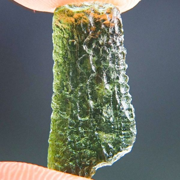Light Green Drop Shape Moldavite From Chlum (0.96grams) 4