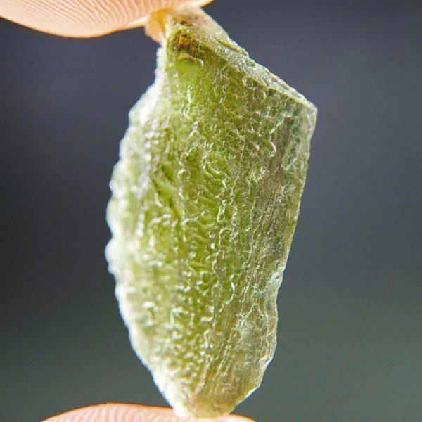 Light Green Naturally Thin Moldavite From Chlum (2.1grams) 2