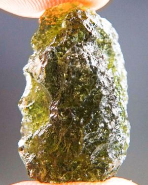Olive Green Natural Piece Moldavite From Chlum (2.86grams) 1
