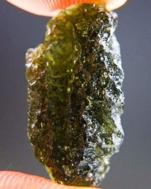 Olive Green Natural Piece Moldavite From Chlum (2.86grams) 2