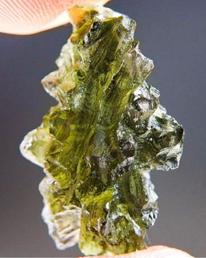 Quality A++ Beautiful Piece Moldavite From Besednice With Certificate Of Authenticity (3.05grams) 2