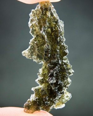 Quality A++ Brown Green Hedgehog Moldavite From Besednice With Certificate Of Authenticity (3.5grams) 1
