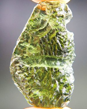 Quality A++ Elegant Vibrant Green Moldavite With Certificate Of Authenticity (8.2grams) 1