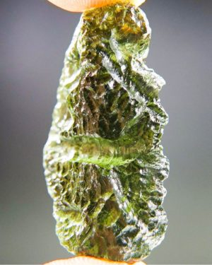 Quality A++ Elegant Vibrant Green Moldavite With Certificate Of Authenticity (8.2grams) 2