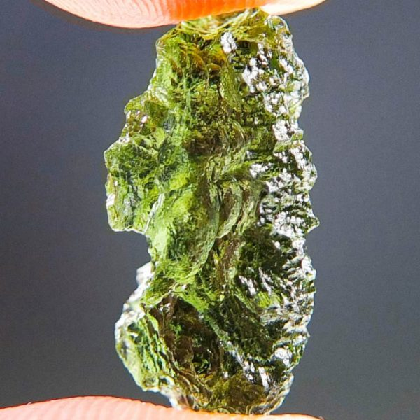 Quality A++ Glossy Beautiful Moldavite From Chlum (1.34grams) 2