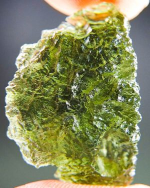 Quality A+ Glossy Fine Shape Moldavite With Certificate Of Authenticity (5.36grams) 1