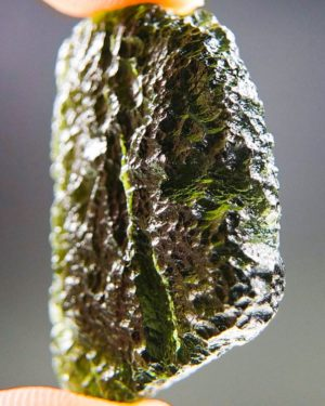 Quality A+ Glossy Large Shape Moldavite With Certificate Of Authenticity (9.36grams) 2