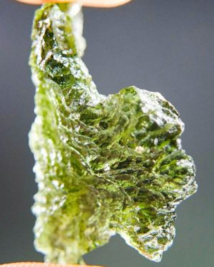Quality A+++ Glossy Natural Piece Moldavite From Chlum (2.98grams) 2