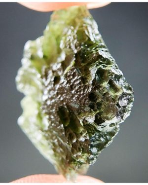 Quality A+ Glossy Unique Shape Moldavite (4.26grams) 2