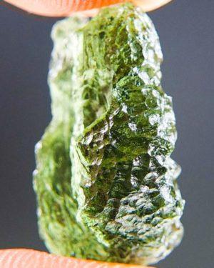 Quality A+ Glossy Vibrant Green Moldavite From Chlum (2.11grams) 2