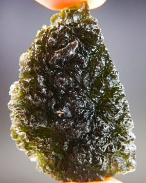 Quality A+ Large Elipsoid Shape Moldavite With Certificate Of Authenticity (17.72grams) 1
