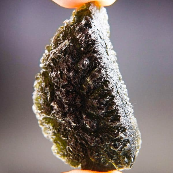 Quality A+ Large Elipsoid Shape Moldavite With Certificate Of Authenticity (17.72grams) 2