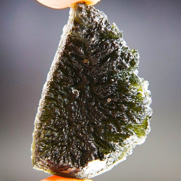 Quality A+ Large Elipsoid Shape Moldavite With Certificate Of Authenticity (17.72grams) 4
