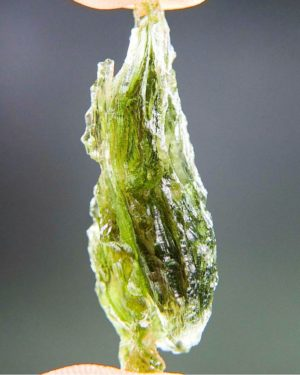 Quality A++ Light Green Beautiful Moldavite With Certificate Of Authenticity (3.92grams) 2