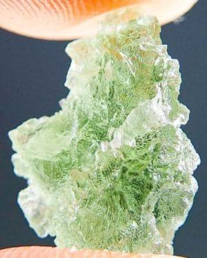 Quality A+ Light Green Rare Hue Moldavite (1.09grams) 2