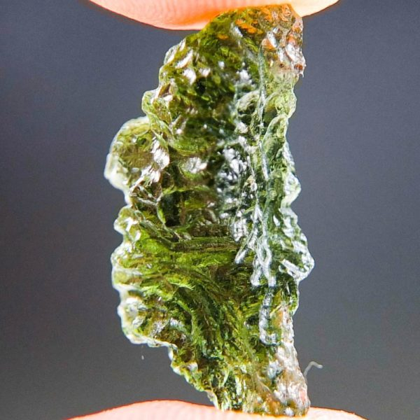Quality A+ Shiny Light Abrasion Moldavite (2.11grams) 2