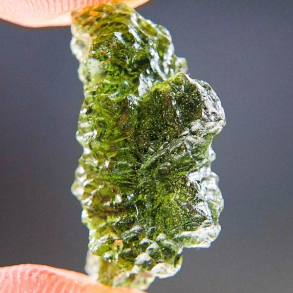Quality A+ Shiny Light Abrasion Moldavite (2.11grams) 4