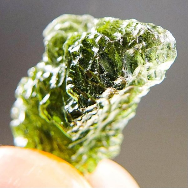 Quality A+ Shiny Light Abrasion Moldavite (2.11grams) 5