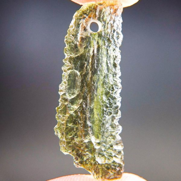 Quality A+ Shiny Yellow Green Moldavite From Chlum With Certificate Of Authenticity (1.82grams) 1