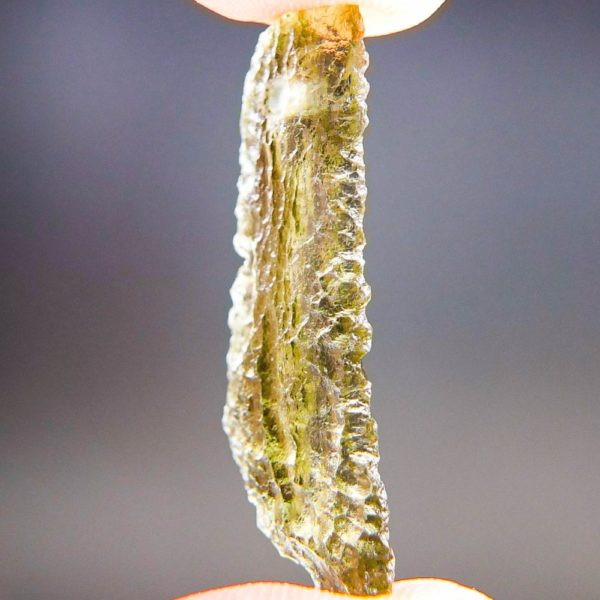 Quality A+ Shiny Yellow Green Moldavite From Chlum With Certificate Of Authenticity (1.82grams) 2