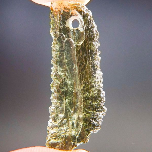 Quality A+ Shiny Yellow Green Moldavite From Chlum With Certificate Of Authenticity (1.82grams) 4