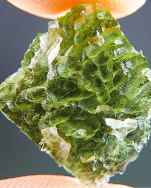 Quality A+++ Unique Visible Lechatelierite Needles Moldavite With Certificate Of Authenticity (2.17grams) 1