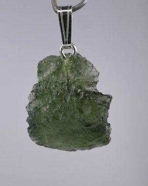 Rare Natural Moldavite Sterling Silver Pendant (2.1grams) 1