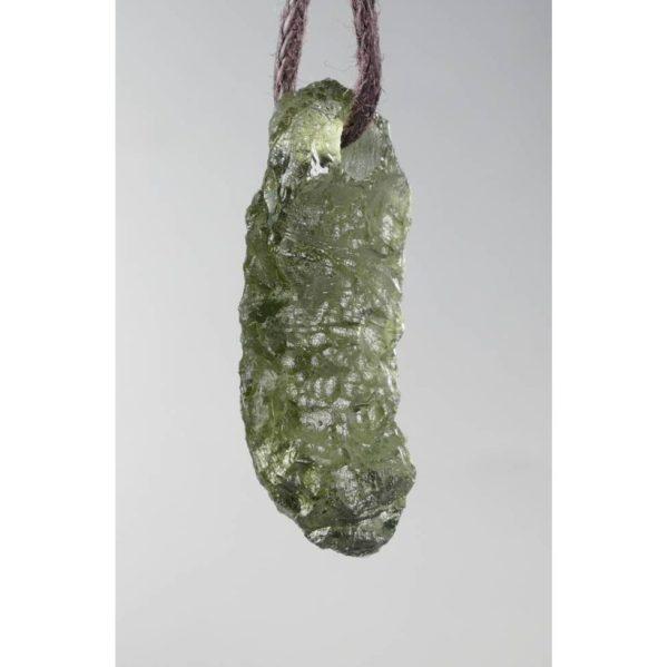 Rare Shape Drilled Moldavite Necklace (1.6grams) 2