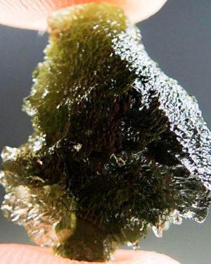 Shiny Brown Green Moldavite (2.53grams) 2