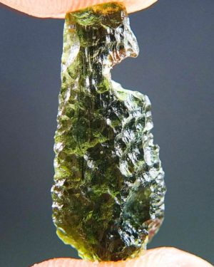Shiny Drop Shape Moldavite From Chlum (1.22grams) 1
