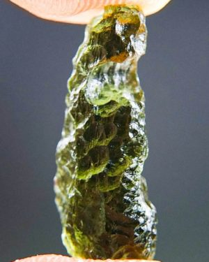 Shiny Drop Shape Moldavite From Chlum (1.22grams) 2