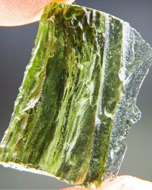 Shiny Vibrant Green Natural Piece Moldavite (3.67grams) 1