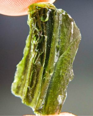 Shiny Vibrant Green Natural Piece Moldavite (3.67grams) 2