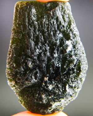 drop shape large moldavite with certificate of authenticity (34.63grams) 1